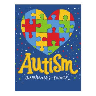 autism awareness month postcard