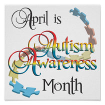 Autism Awareness Month Poster Art