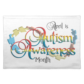 Autism Awareness Month White Placemat