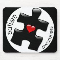 Autism Awareness Mousepad - Black