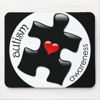 Autism Awareness Mousepad - Black
