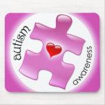 Autism Awareness Mousepad - Pink