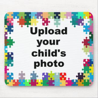 Autism Awareness Mousepad Puzzle Frame Customize