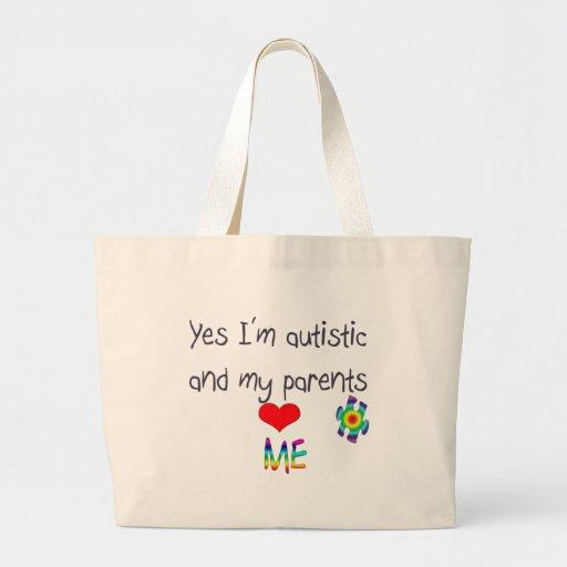 Autism awareness -My parents love me Jumbo Tote Bag