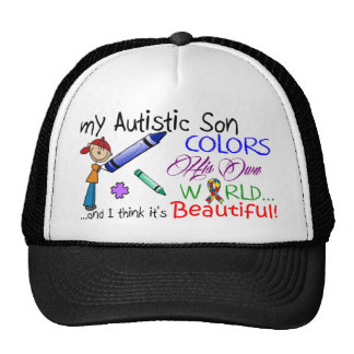 Autism Awareness - My Son and His World! Trucker Hat