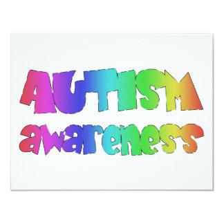 Autism Awareness original products! 4.25x5.5 Paper Invitation Card