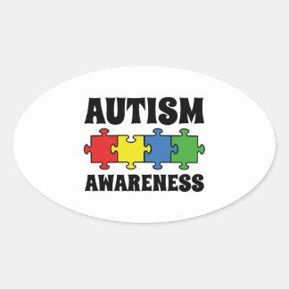 Autism Awareness Oval Sticker