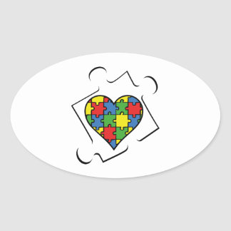 Autism Awareness Oval Sticker