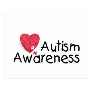 Autism Awareness (P Hrt) Postcard