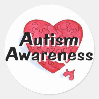 Autism Awareness P Hrt Stickers