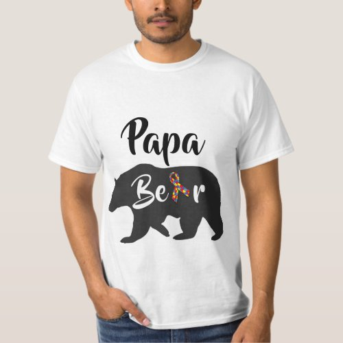 Autism Awareness Papa Bear T_Shirt