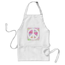 Autism Awareness Peach Products Adult Apron
