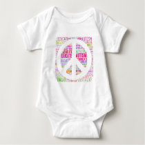 Autism Awareness Peach Products Baby Bodysuit