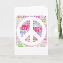 Autism Awareness Peach Products Card