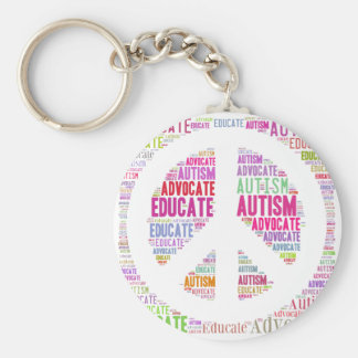 Autism Awareness Peach Products Keychain