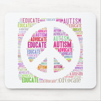 Autism Awareness Peach Products Mouse Pad