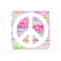 Autism Awareness Peach Products Postcard