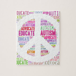 Autism Awareness Peach Products Puzzle