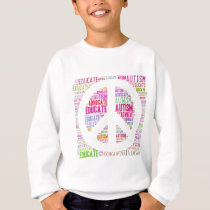 Autism Awareness Peach Products Sweatshirt