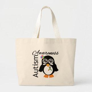 Autism Awareness Penguin Tote Bag