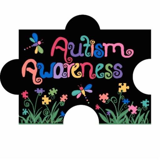 Autism Awareness Piece Photo Sculpture