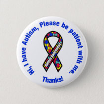 Autism Awareness Pin / Button Badge