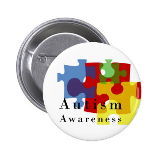 Autism Awareness Pinback Button