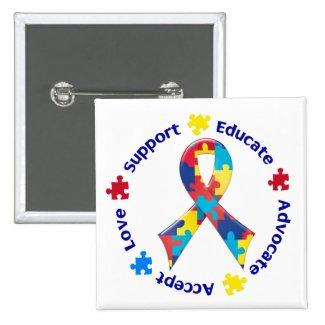 Autism Awareness Pin-back Buttons