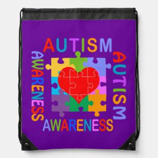 Autism Awareness Cinch Bags
