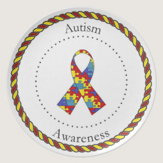 Autism Awareness Plate