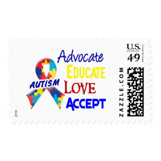 Autism Awareness Postage