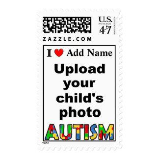 Autism Awareness Postage Customize Photo