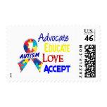 Autism Awareness Postage Stamp