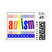Autism Awareness Postage Stamps