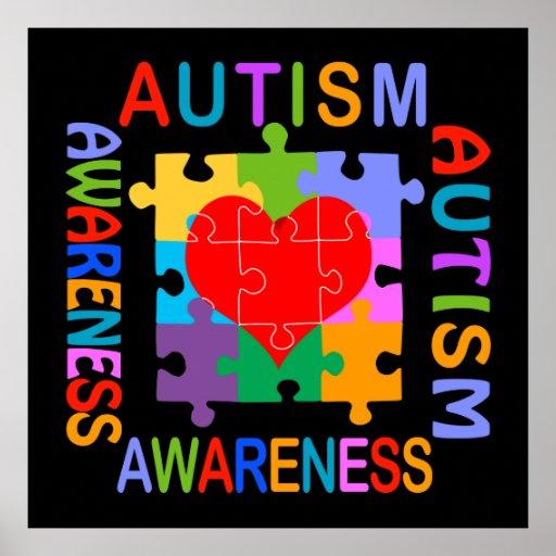 Autism Awareness Art Posters Framed Artwork: Puzzle Posters, Puzzle Prints, Art Prints, & Poster