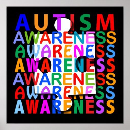 Autism Awareness Art Posters Framed Artwork: Autism Awareness Month Posters, Autism Awareness Month