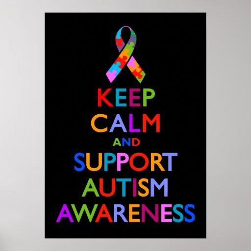 Autism Awareness Art Posters Framed Artwork: Autism Awareness Poster