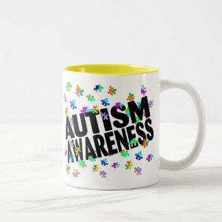 Autism Awareness (PP) Two-Tone Coffee Mug