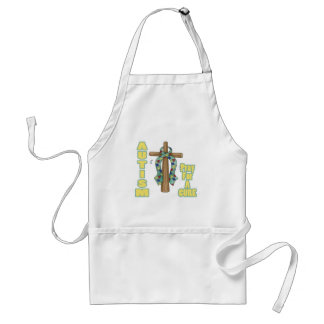 Autism Awareness-Pray for a Cure Adult Apron