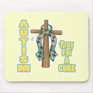 Autism Awareness-Pray for a Cure Mouse Pad