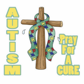 Autism Awareness-Pray for a Cure Standing Photo Sculpture