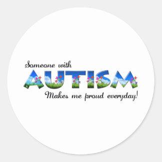 Autism Awareness pride Classic Round Sticker