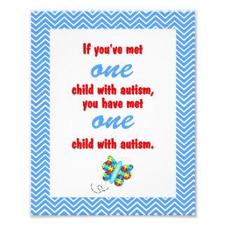 Autism Awareness Print Photo Art