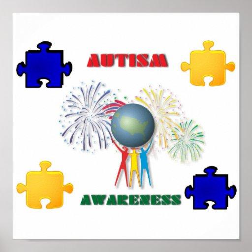 Autism Awareness Art Posters Framed Artwork: Autism Awareness Print