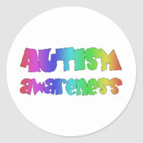 Autism Awareness Products! Colorful design! Classic Round Sticker