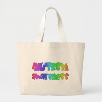 Autism Awareness Products! Colorful design! Large Tote Bag