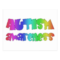 Autism Awareness Products! Colorful design! Postcard