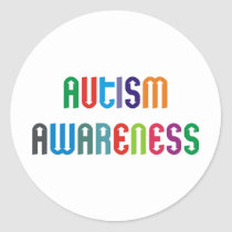 Autism Awareness Products & Designs! Classic Round Sticker