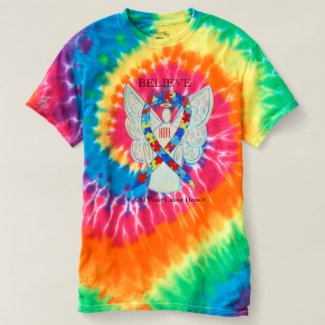 Autism Awareness Puzzle ASD Ribbon Angel Shirt