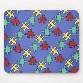 Autism Awareness Puzzle Background Mouse Pad